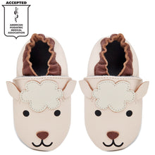 Load image into Gallery viewer, Kimi + Kai Unisex Soft Sole Leather Baby Shoes - Lamb