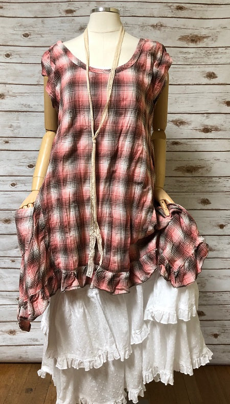 Flutter Top Rustic Woven Cotton, USA