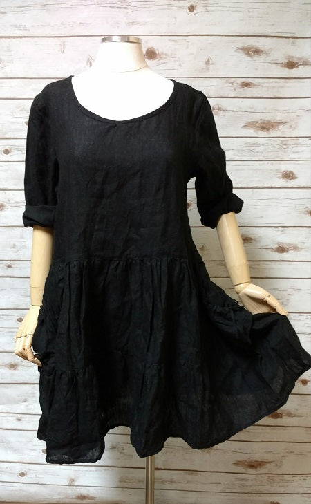 Eunice Top Black, HD-026 blk