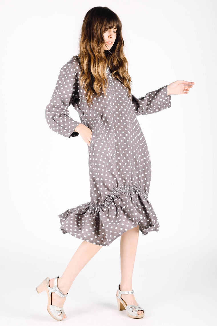 Rachel Dress Grey Dot, HD-068 G DOT