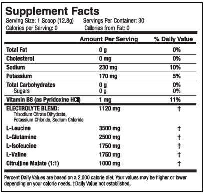 Ingredients for XTEND (30 Servings)