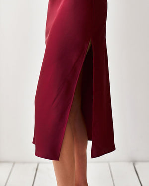 LORETA DRESS - WINE