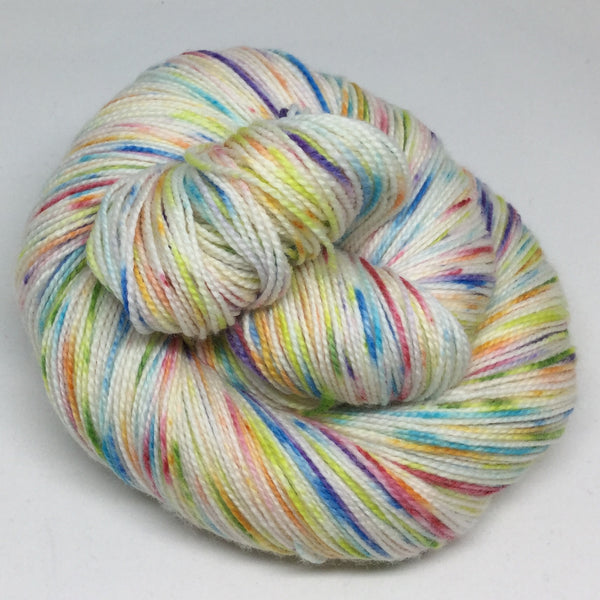 It's a Gradient Speckle Christmas Eight Stripe Self Striping Yarn