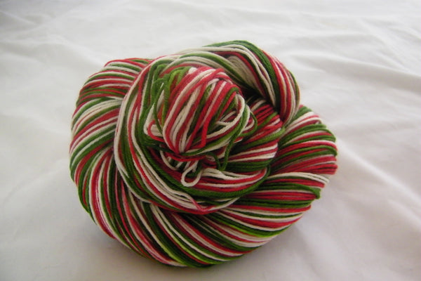 Holiday Stripe Thick Four Stripe Self Striping Yarn