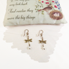 Delicate Vintage Dragonfly Earrings with Pearls
