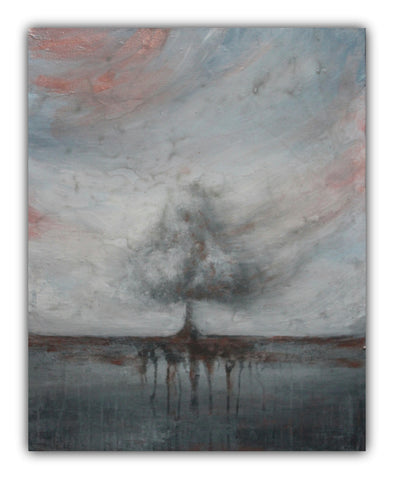 Grey Tree Landscape Painting