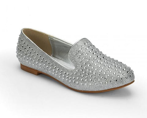 SILVER SLIP ON SHOE
