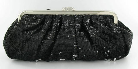 Black bling hand bag