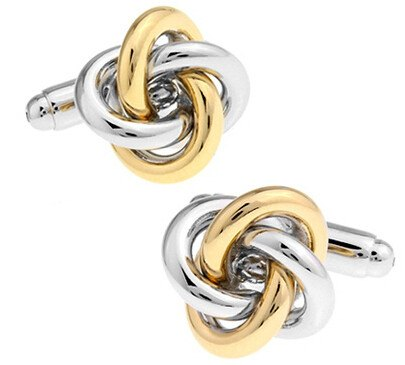 Gold and Silver Knot Cufflinks - SOPHGENT