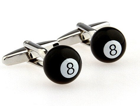 Novelty Eight Ball Cufflinks - SOPHGENT