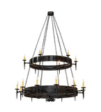 "72""W Warwick 18 Lt Two Tier Gothic Chandelier"