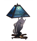 "21""H Leaping Bass Wildlife Table Lamp"