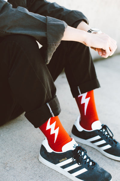Thinking Socks (Red)