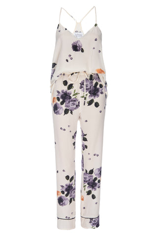 NEW: Tank and Pant Set in 'Garden Floral Print' Silk