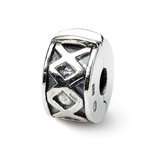 Sterling Silver Reflections Hinged X Clip Bead