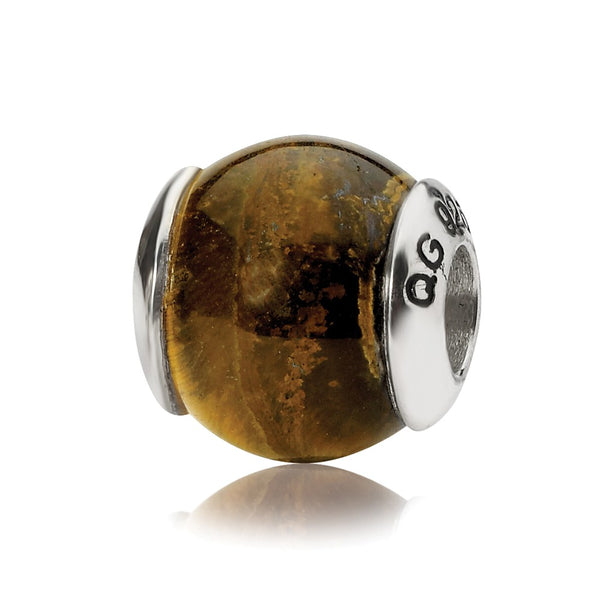 Sterling Silver Reflections Tiger's Eye Stone Bead