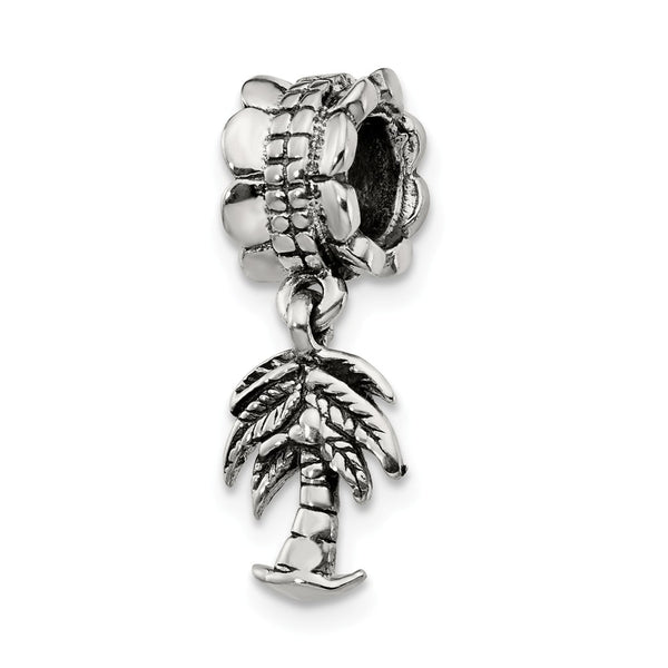 Sterling Silver Reflections Palm Tree Dangle Bead