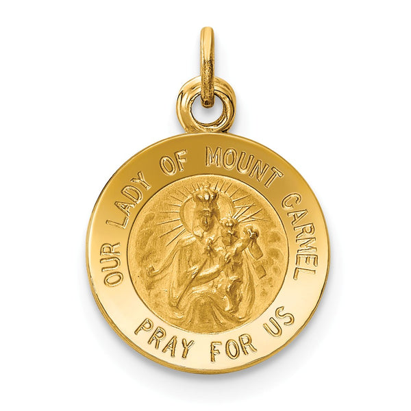 14k Our Lady of Mt. Carmel Medal Charm