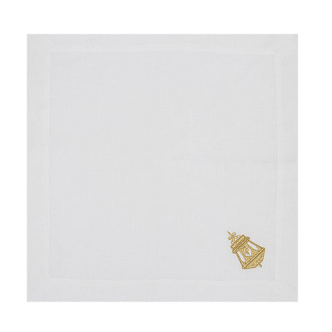 Golden Lantern Linen Napkin Set