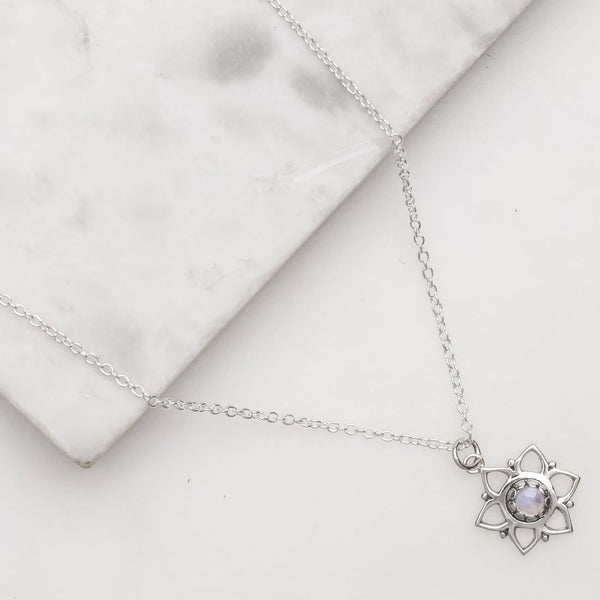 Garden Party Moonstone Necklace