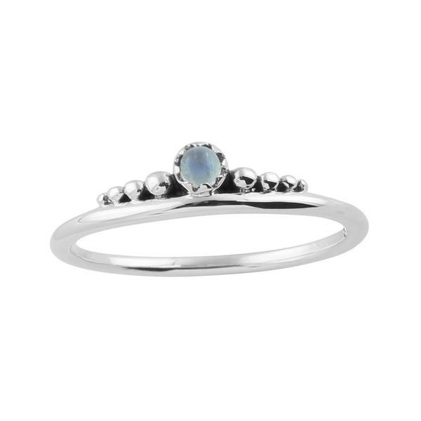 Delicate Crown Moonstone Ring