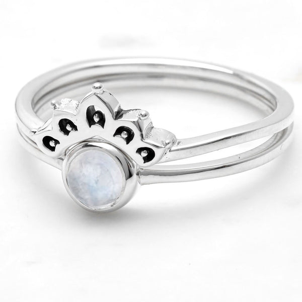 Elixie Moonstone Ring Set
