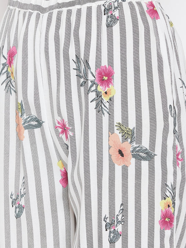STRIPES AND FLOWERS KAFTAN LOUNGESET