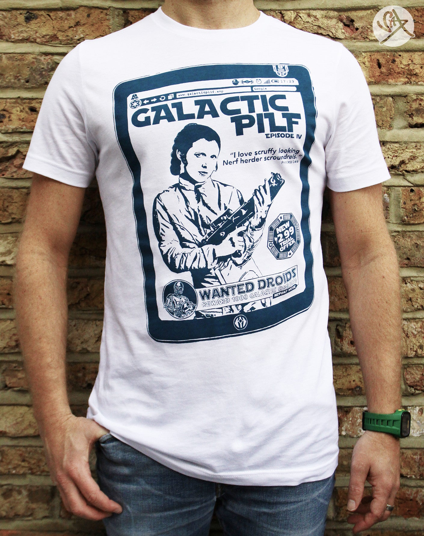 SAX TEES - GALACTIC PILF STAR WARS T Shirt by SAXTEES
