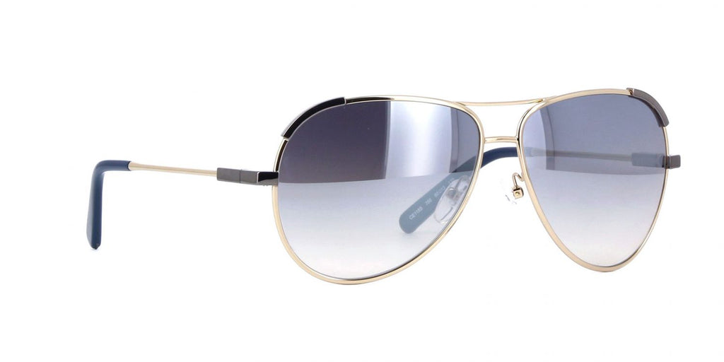 Chloé Aviators CE118S 766  Gold / Gray Gradient Mirror 60mm Sunglasses