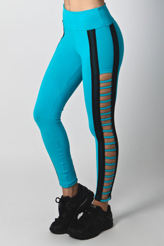 Teal and Black Legging L7028 - Equilibrium Activewear