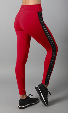 Red Burlesque Leggings L722 - Equilibrium Activewear