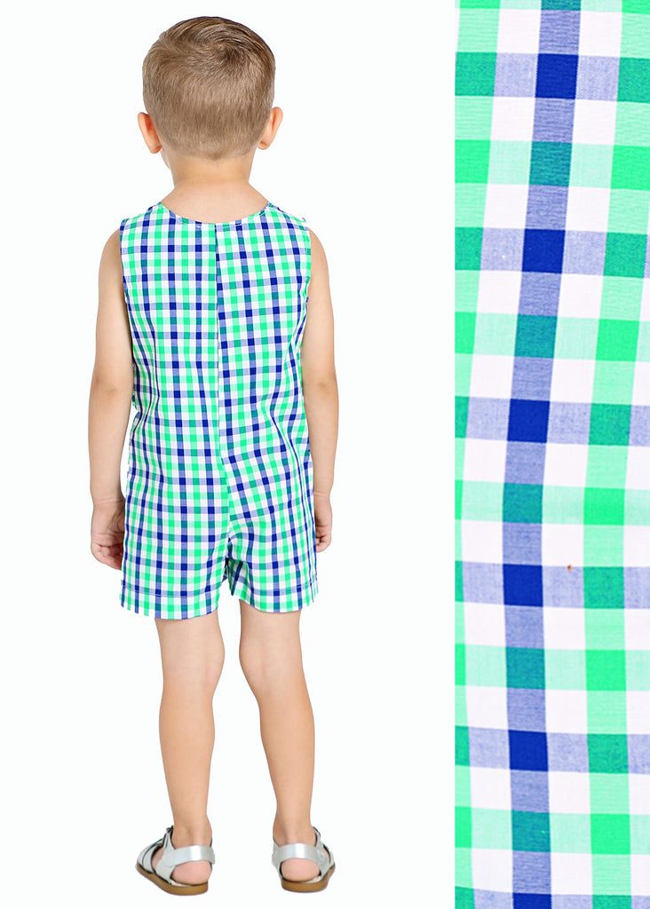 ALLIGATOR GINGHAM JON JON