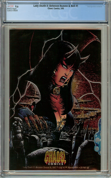 Lady Death II: Between Heaven & Hell #1 CGC 9.6 White Pages 1265519004