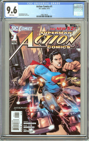 Action Comics #1 CGC 9.6 White Pages (2011) 1992179010