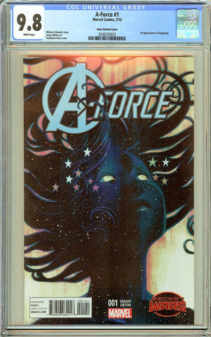 A-Force #1 CGC 9.8 White Pages 2030235022 Hans Variant Cover