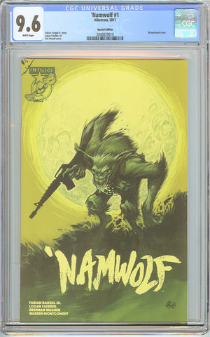 """Namwolf #1 CGC 9.6 White Pages 2040829010 Wraparound Cover"