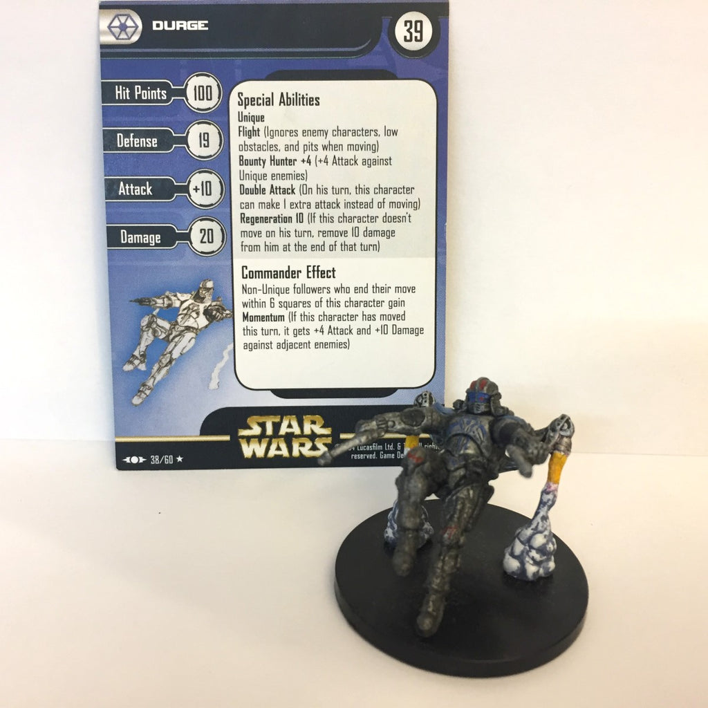 Star Wars Clone Strike #38 Durge (R) Miniature
