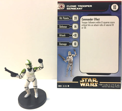 12 X Star Wars Clone Strike 10/60 Clone Trooper Sergeant (C) Miniature