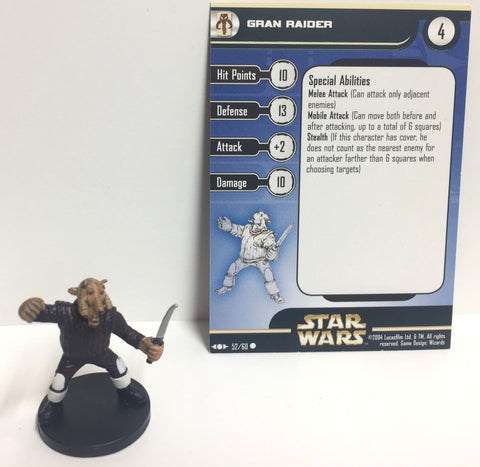 12X Star Wars Clone Strike 52/60 Gran Raider (C) Miniatures