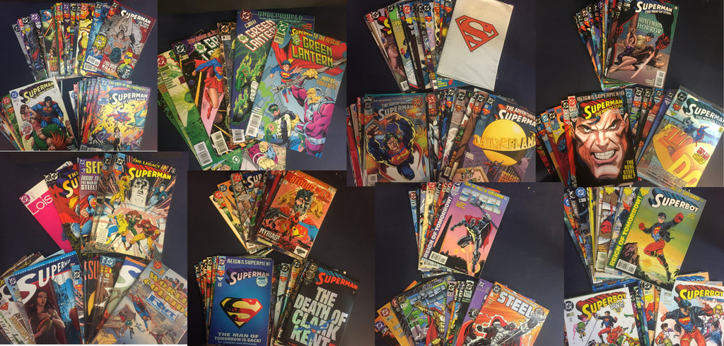 Value Pack ( 50+1 Comics ) Superman & related titles 1990's FREE PRIORITY SHIPPI