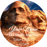 Mt. Rushmore Personalized Return Address Labels American Presidents USA America