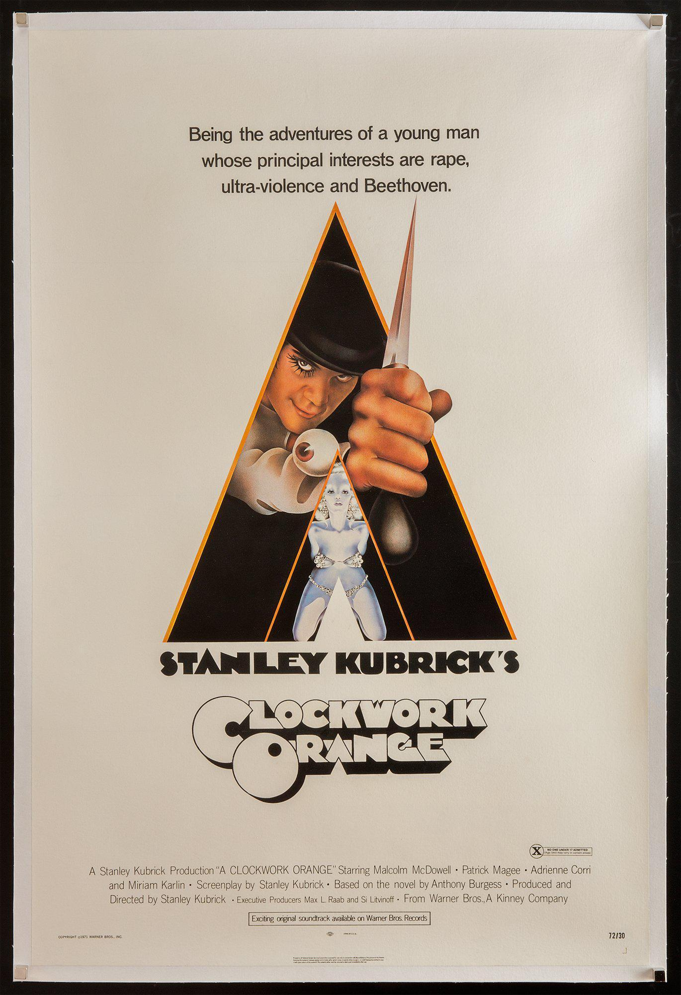 A Clockwork Orange 1 Sheet (27x41) Original Vintage Movie Poster