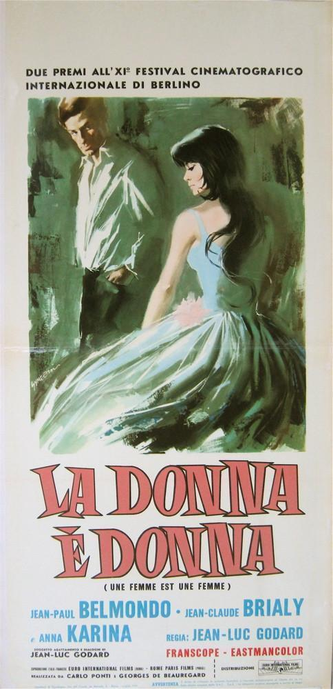 A Woman Is a Woman (Une Femme Est Une Femme) Italian Locandina (13x28) Original Vintage Movie Poster