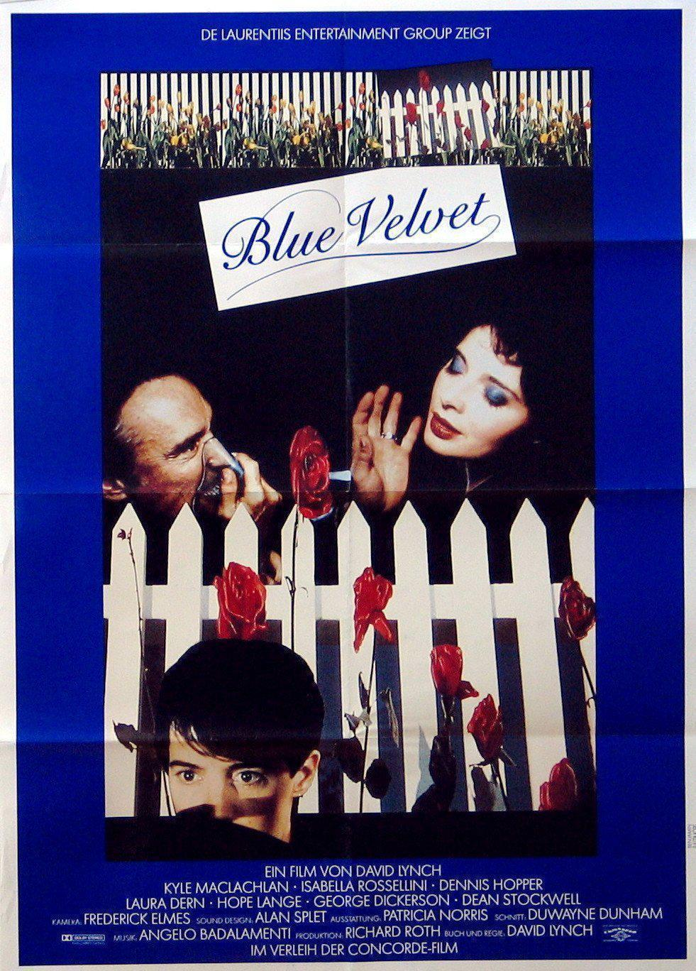 Blue Velvet German A1 (23x33) Original Vintage Movie Poster