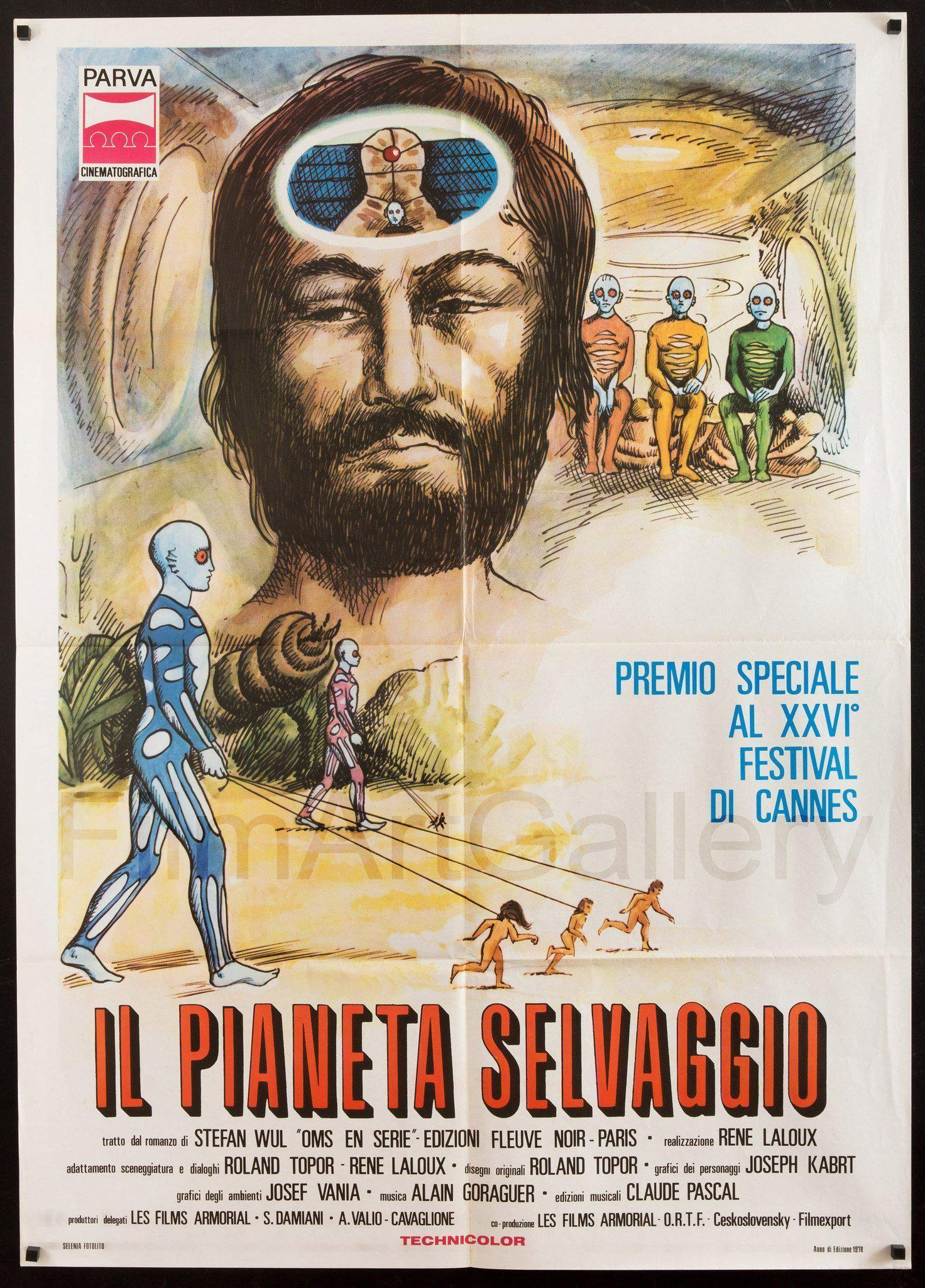 Fantastic Planet (La Planete Sauvage) Italian 2 Foglio (39x55) Original Vintage Movie Poster