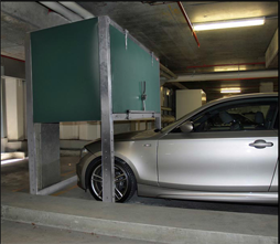 Garage storage - use the space above your car with a parking loft.
