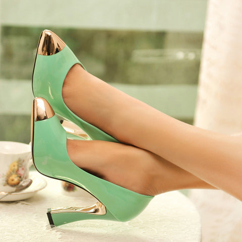 Pointed Toe Women Pumps Platform High Heels Dress Shoes Woman