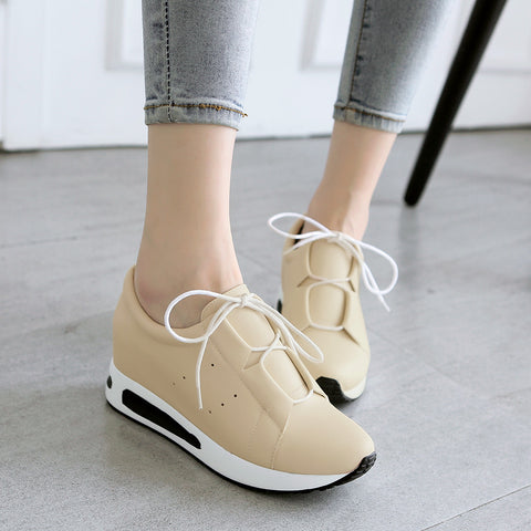 Lace Up Women Sneakers Casual Platform Shoes 7569
