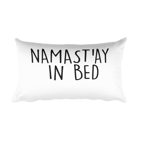 Namast'ay In Bed Long Pillow