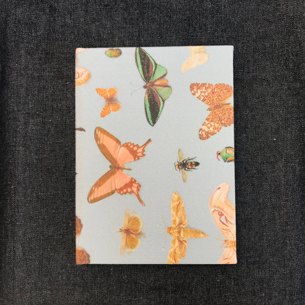 Bugs And Butterflies fabric covered sketchbook